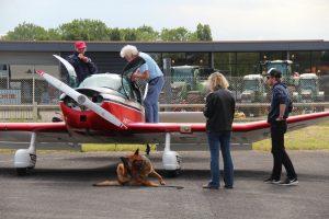 4 mirauds autour d'un avion à Nogaro