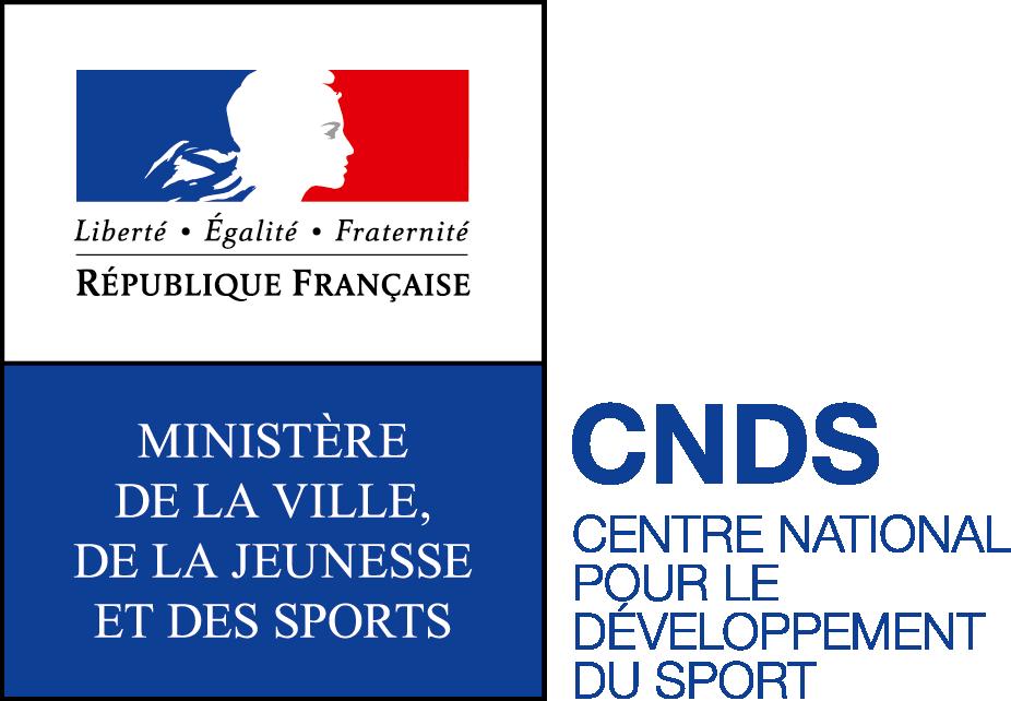 Logo ministère ville jeunesse et sports et CNDS