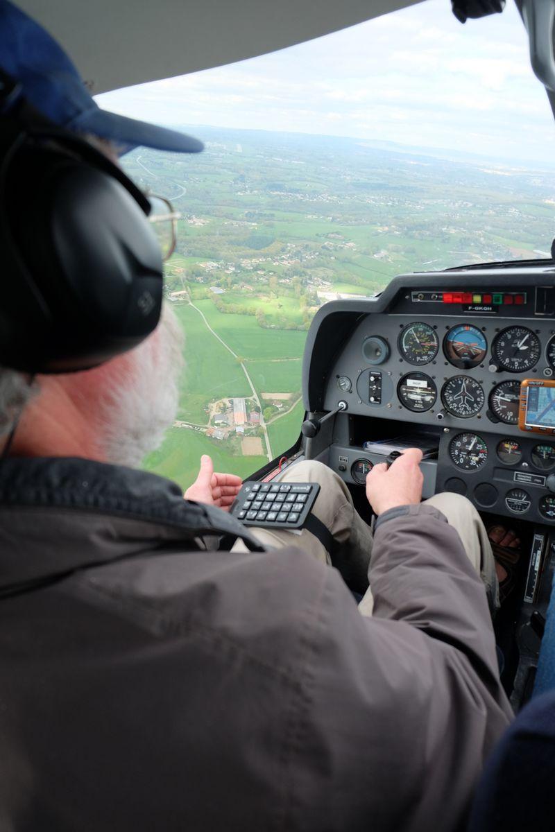 soundflyer utilisé en vol au dessus de Limoges