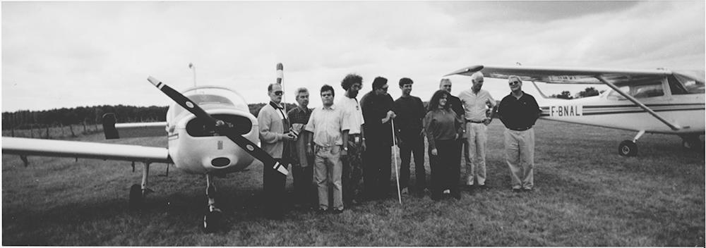 Les membres de l'APAF en 1994 sur le terrain de Bazas