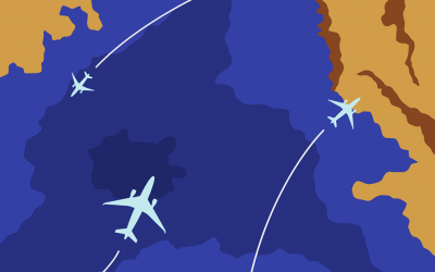 Un vol intra puis interrégional